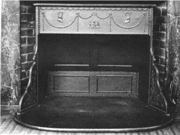 """""""Franklin Stove"""", the predecessor to modern fireplace inserts."""