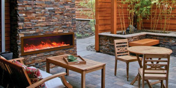 Outdoor Electric Fireplaces